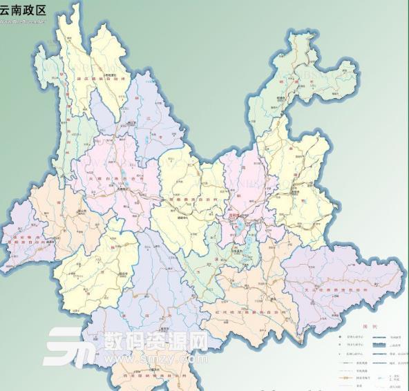 云南旅游地图高清版图片