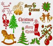 PS圣诞节铃铛圣诞树笔刷