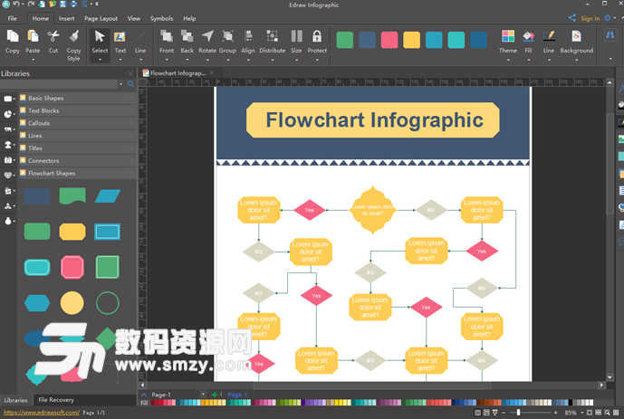 是款可以轻松绘制信息图,海报,节日卡片的edraw infographic软件,亿图