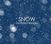PS冬季雪花下雪笔刷