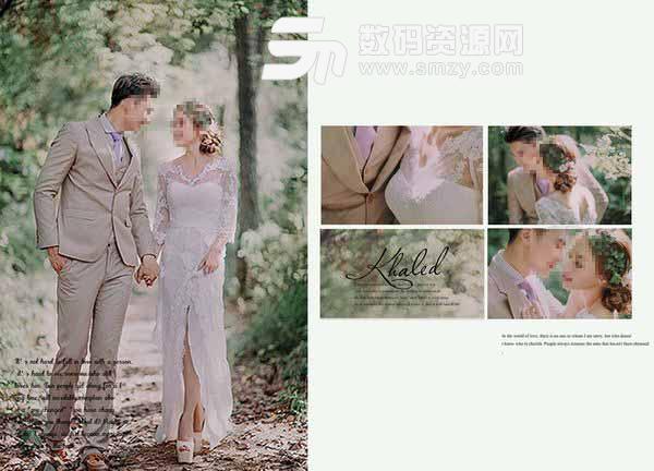 婚纱照相册模板 物语 01