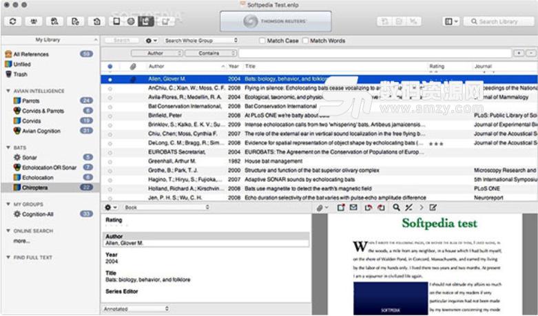 EndNote X8 Mac版特色