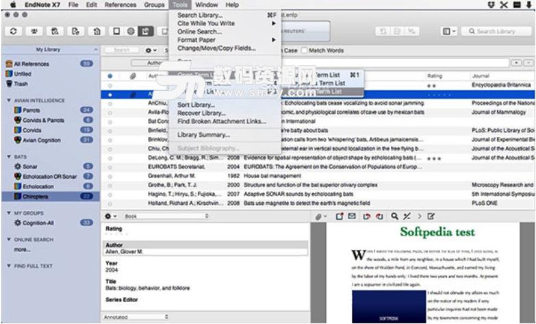 EndNote X8 Mac版特点