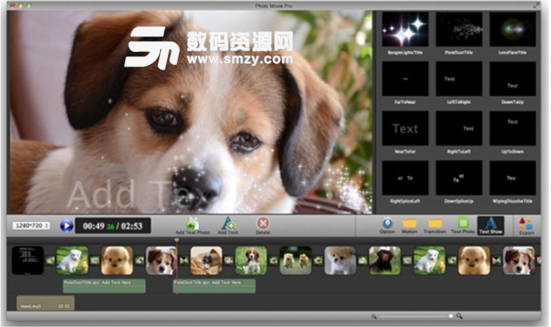 Photo Movie Pro Mac版特色