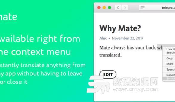 Mate Translate Mac破解版