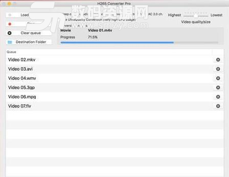 H265 Converter Pro Mac破解版界面