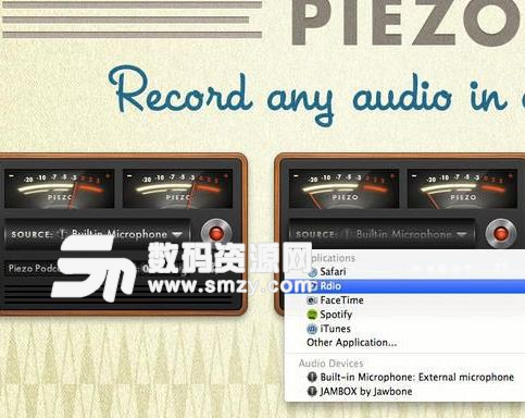 Piezo for Mac界面
