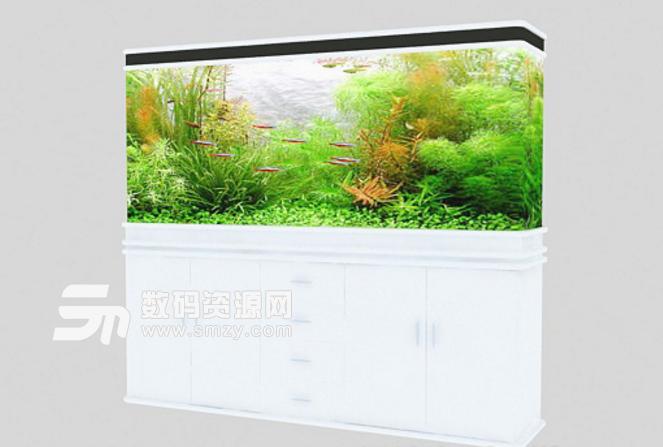 家居裝飾之立式景觀魚缸3d模型