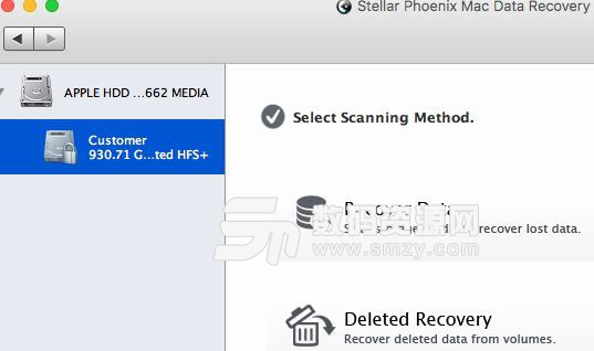 ==Stellar Phoenix Mac Data Recovery苹果电脑版界面