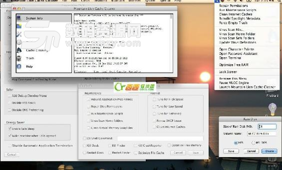 Mountain Lion Cache Cleaner for Mac界面