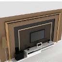 簡約免費歐式電視墻3d模型