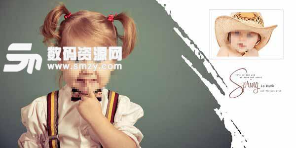 儿童艺术照模板 咔哇伊天使 03