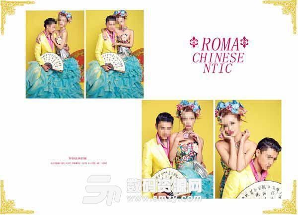 婚纱照相册模板 Roma 05