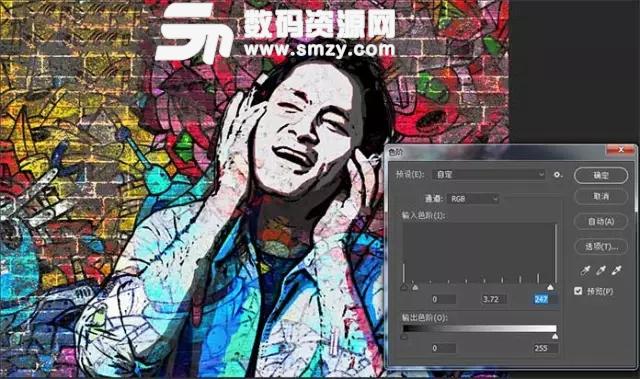 ***超酷的墙面涂鸦人像照片PS教程