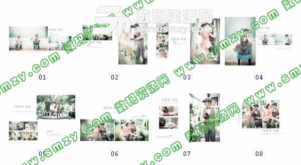 整套【婚纱摄影模板 梦幻花园】缩略图