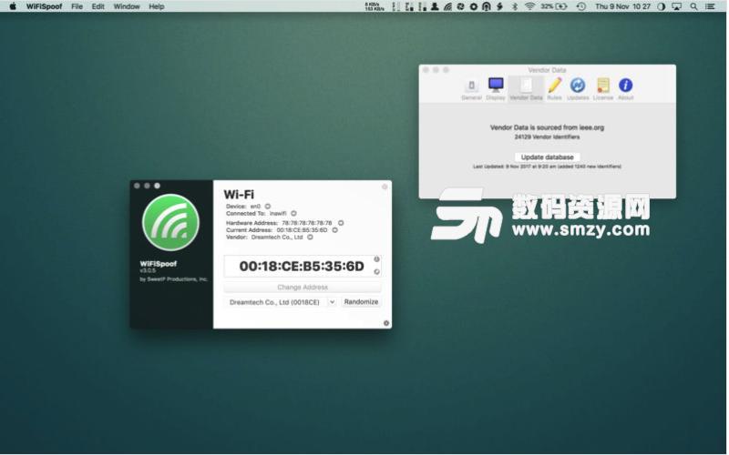 WiFiSpoof Mac特别版特色