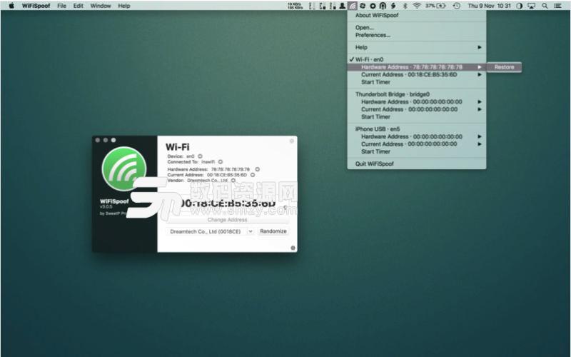 WiFiSpoof Mac特别版特点