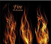 高品质燃烧的火焰PS笔刷