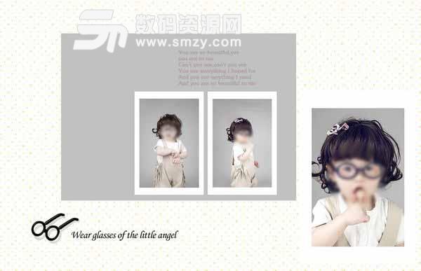 儿童相册模板 眼镜小天使 08