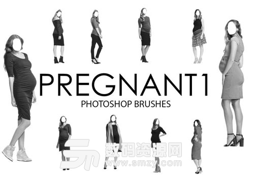 时尚怀孕妈妈孕妇笔刷下载