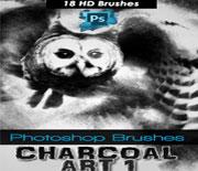 18款HD木炭艺术画笔刷