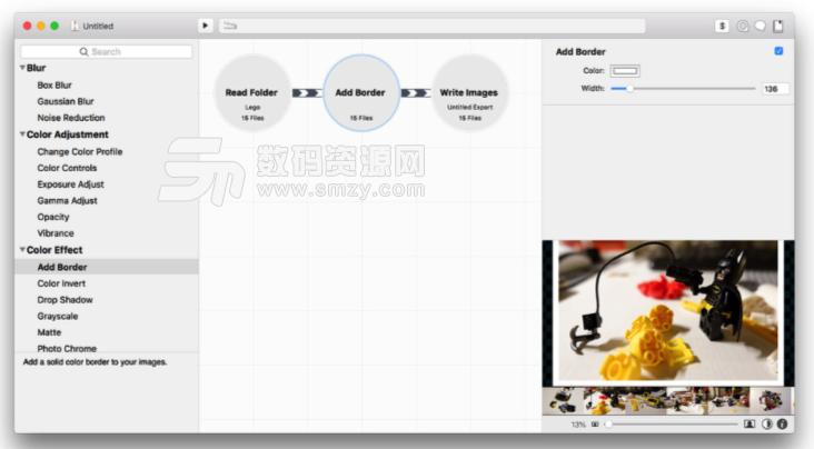 Mac Retrobatch批量水印添加以及图片编辑方法特点