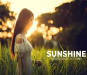PS创意阳光色外景照片调色动作