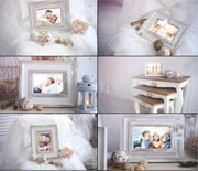 白色唯美梦幻实拍婚礼照片AE模板