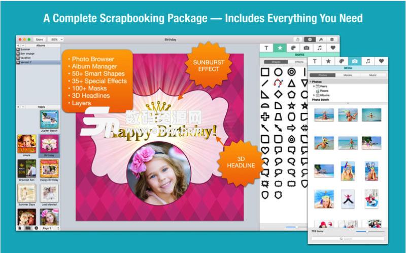 iScrapbook Mac激活版特征