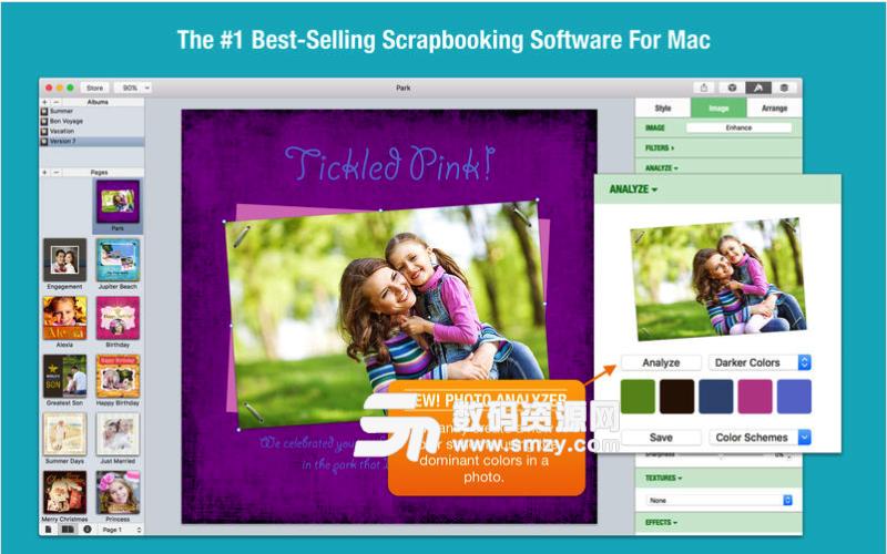 iScrapbook Mac版特色