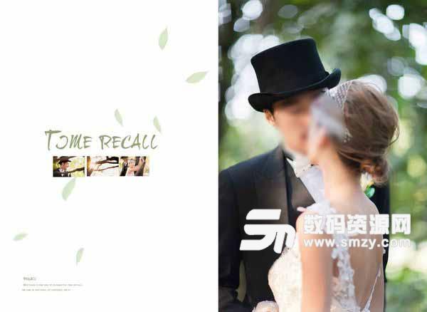 婚纱照相册模板 时光记忆 02