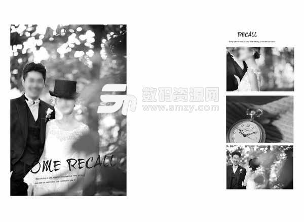 婚纱照相册模板 时光记忆 05