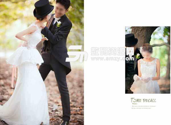 婚纱照相册模板 时光记忆 08