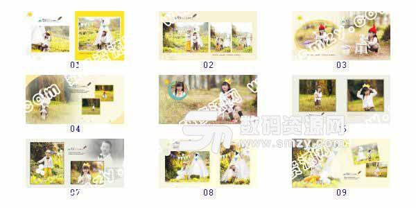 【儿童相册模板 越多微笑越多快乐】-整套JPG预览图