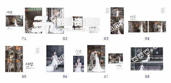 整套【婚纱照设计模板 甜美爱恋】缩略图