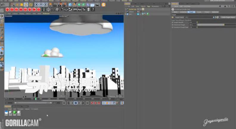 GorillaCam破解版 C4D逼真相机动画插件 GorillaCam v1.0 下载 附破解教程
