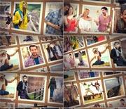 独特创意3D人像家庭旅行相册AE模板