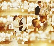 浪漫梦幻白气球婚礼照片AE模板