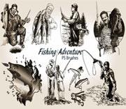 20款户外钓鱼笔刷