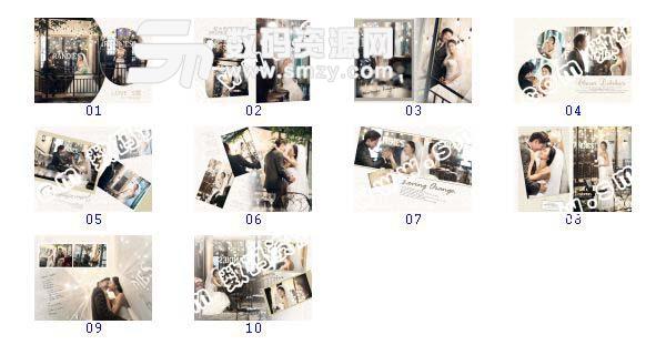 【婚纱摄影模板 爱情密码B】-整套JPG预览图