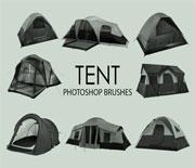 15款旅行露营帐篷笔刷