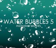 晶莹剔透的水中泡泡气泡笔刷