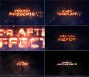 火红的岩浆字幕文字特效AE模板