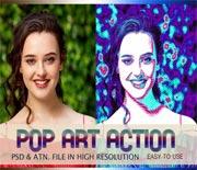 POP艺术照片效果PS处理动作