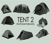 免费photoshop户外帐篷笔刷