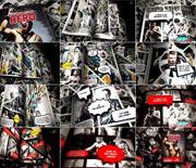 模拟漫画书风格图片展示AE模板