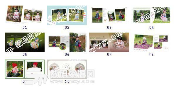 """全套""""儿童相册模板 童年色彩A""""缩略图"""