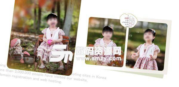 儿童相册模板 童年色彩A 01