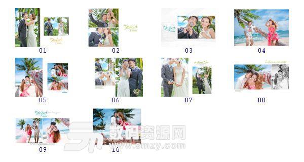 """全套""""婚纱照相册模板 风格""""缩略图"""