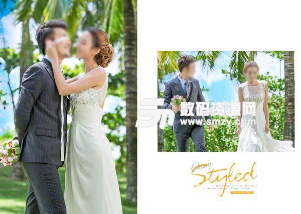 婚纱照相册模板 风格 01